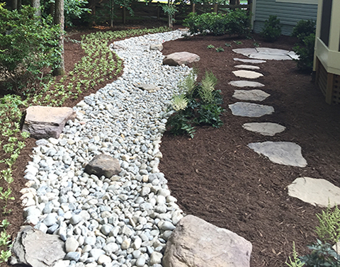 About Us Stone Walkway