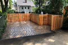 Driveway with Cedar Fence Surround