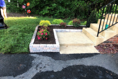 Raised Stone Flower Bed