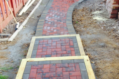 Paver and Wood Stairs and Walkway