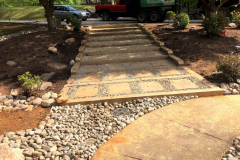 Stone walk way with drainage solution