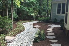 Stone Walkway with drainage bed