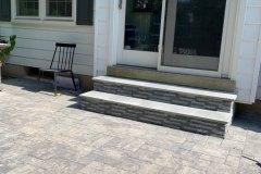 Stone Steps to match Stone Patio